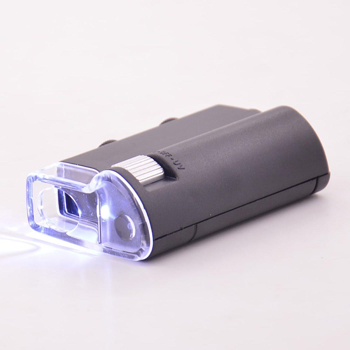 Карманный цифровой микроскоп 60-100х с подсветкой