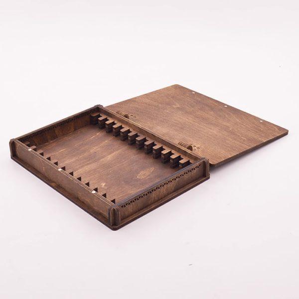 Деревянная шкатулка для хранения заточных брусков-12-шт-2