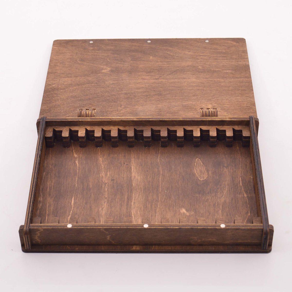 Деревянная шкатулка для хранения заточных брусков, 15 шт 3