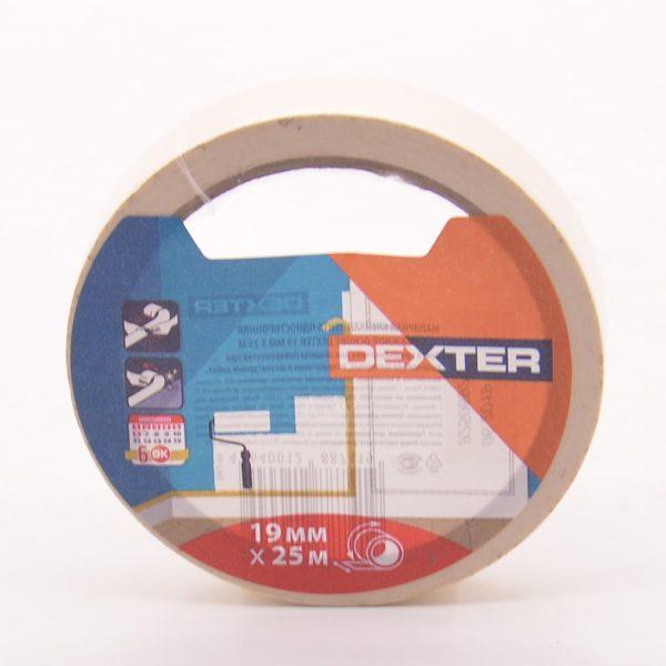 Малярная клейкая лента 19мм*25м, DEXTER